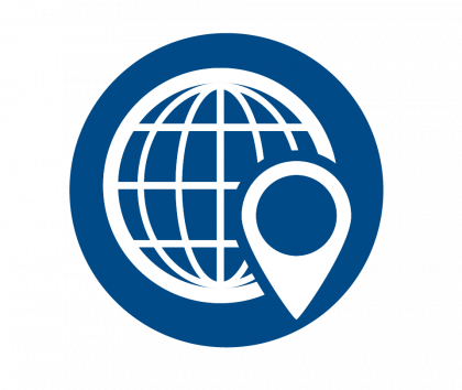 Global Digital Supply Chain Icon